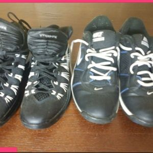 Bundle of 2 Nike Basketball Shoes Size 9.